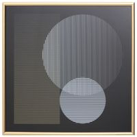 Eclipse-Solar-Quadro-55-Cm-X-55-Cm-Dourado-preto-Fineline-Eclipse