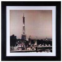 In-Paris-Quadro-83-Cm-X-83-Cm-Preto-branco-Night