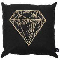 Diamante-Almofada-45cm-Preto-ouro-Lucky