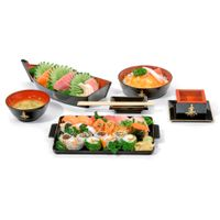 Sashimi-Bati-Tigela-Red-16cm-Preto-vermelho-Hindu-Nihon