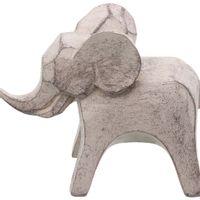 Elefante-Adorno-11-Cm-Cinza-Claro-Ruaha
