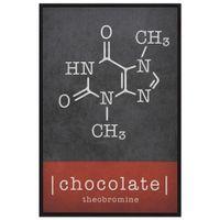 Chocolate-Quadro-20-Cm-X-30-Cm-Preto-multicor-Moleculas