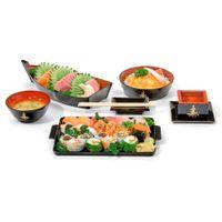 Barquinho-Sushi-29x14cm-Preto-vermelho-Hindu-Nihon