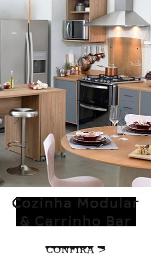 Cozinha modular e Carrinho
