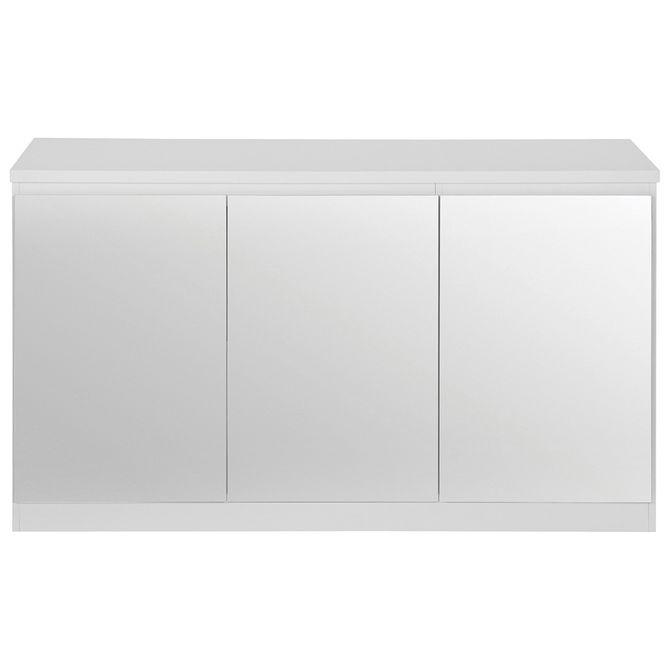 Buffet-3-Portas-134x45-Branco-prata-Mince