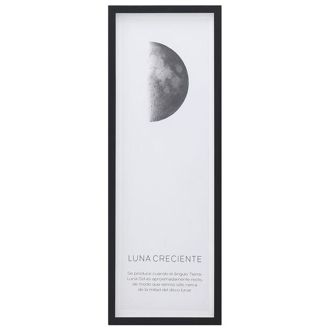 Creciente-Quadro-33-Cm-X-93-Cm-Preto-branco-Luna