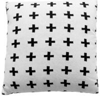 Cross-Almofada-45cm-Branco-preto-Mini