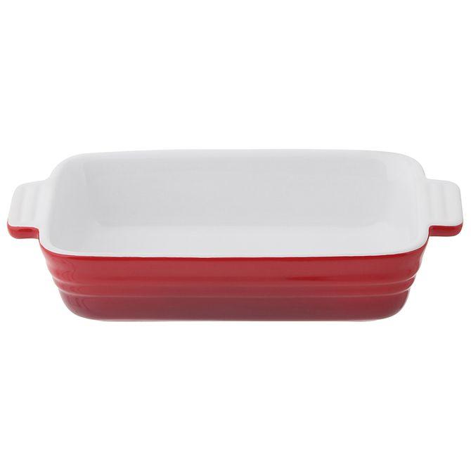 Travessa-Refrataria-11-Cm-X-21cm-Vermelho-branco-Baked