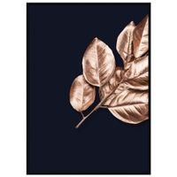 Rose-Leaves-I-Quadro-52-Cm-X-72-Cm-Preto-cobre-Galeria-Site