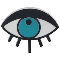 Adorno-Parede-Eye-Preto-turquesa-Follow-Your-Dreams