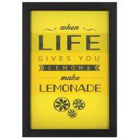 --Lemonade-Quadro-23-Cm-X-33-Cm-Preto-amarelo-Sayings