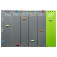 Memory-board-60-Cm-X-40-Cm-Cinza-multicor-Year
