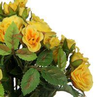 Delicada-Mini-Rosa-Amarelo-verde-Bouquet