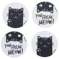 Porta-copos-Magnetico-C-4-Branco-preto-Meow