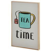 Tea-Time-Quadro-20-Cm-X-30-Cm-Natural-multicor-Tealex