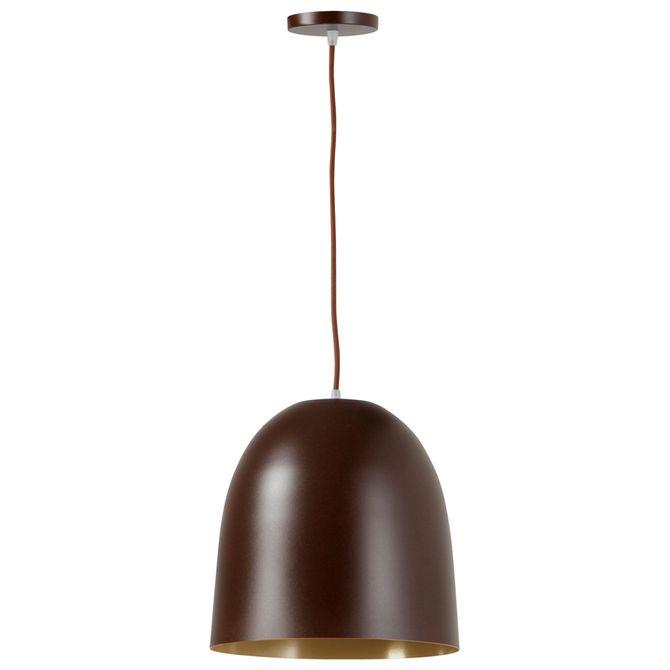 Luminaria-Teto-30-Cm-Castanho-ouro-Kapsu