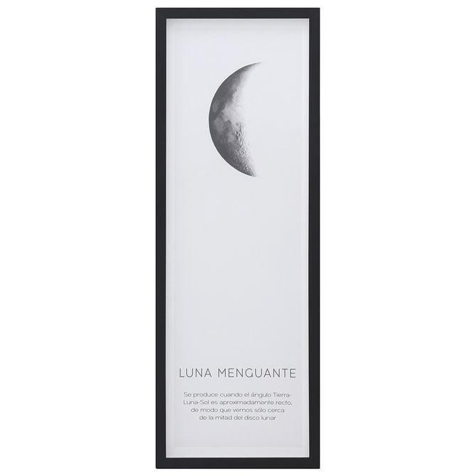 Menguante-Quadro-33-Cm-X-93-Cm-Preto-branco-Luna