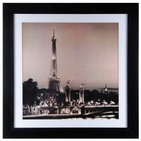 In-Paris-Quadro-83-Cm-X-83-Cm-Preto-branco-Night