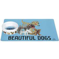 Tapete-comedouro-Para-Pet-Azul-Claro-multicor-Beautiful-Dogs
