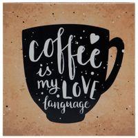Quadro-21-Cm-X-21-Cm-Marrom-preto-Coffee-Language