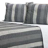 Colcha-Casal-queen-240x250-Multicor-cinza-Pattern-Pad