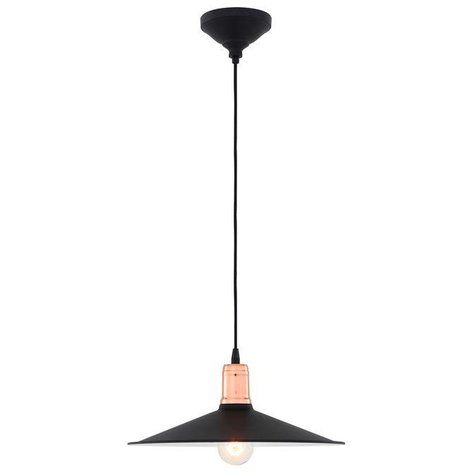Luminaria-Teto-Preto-cobre-Plato