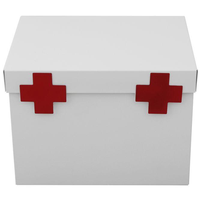 Caixa-Para-Remedios-Branco-vermelho-Farmacinha