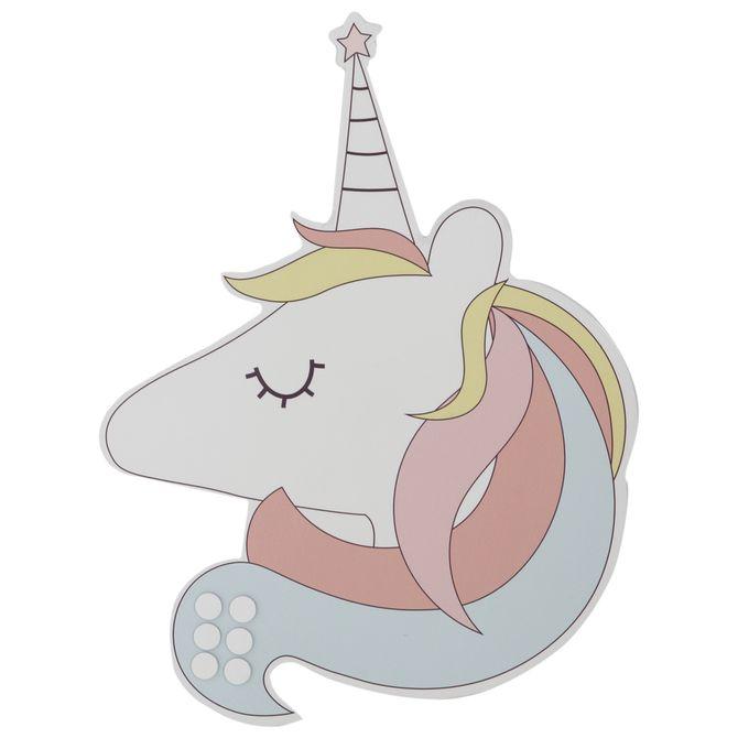 Memory-board-46-Cm-X-36-Cm-Branco-multicor-Unicorn-Vibes