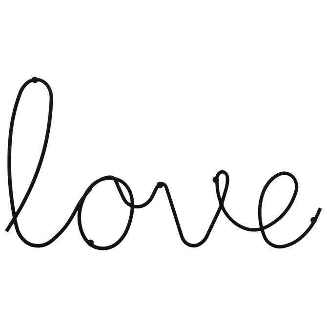 Adorno-Parede-Preto-It-s-Love