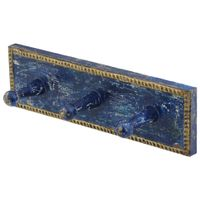 Cabide-Parede-C-3-Ganchos-Azul-Escuro-multicor-Caravela