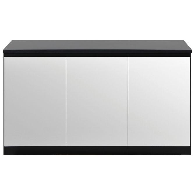 Buffet-3-Portas-134x45-Preto-prata-Mince