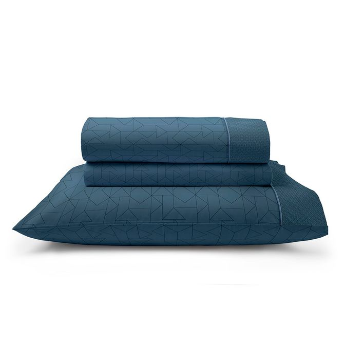 Jogo-De-Cama-Energy-Casal-220-Cm-X-247-Cm-Artex-Azul-Escuro-Total-Mix-Clean