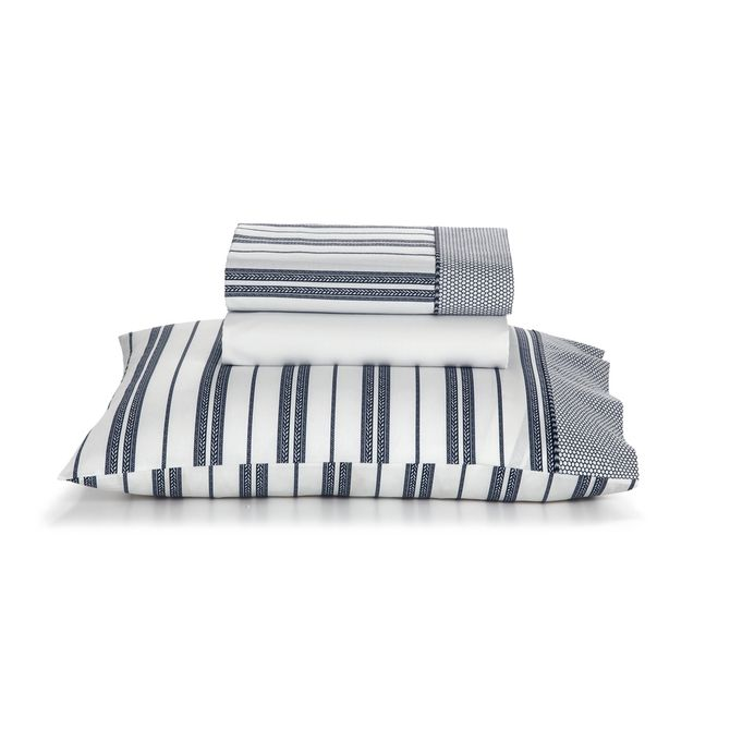 Jogo-De-Cama-Arpoador-Queen-260-Cm-X-247-Cm-Artex-Branco-azul-Escuro-Total-Mix-Clean