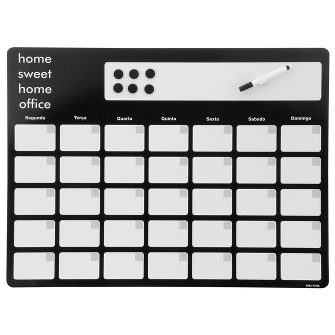 Sweet-Home-Of-Memory-board-60-Cm-X-45-Cm-Preto-branco-Sweet-Home-Office