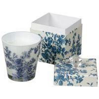 Vela-Perfumada-Pote-9-Cmx-9cm-Branco-azul-Bleu-Rose