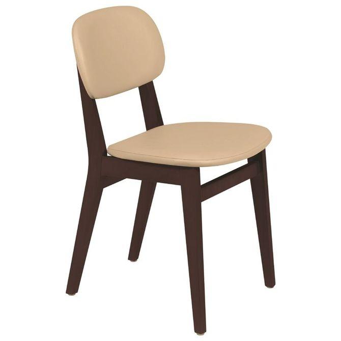 Cadeira-De-Madeira-Tramontina-London-Em-Tauari-Tabaco-Sem-Bracos-Com-Estofado-Bege-Chenille-Amendoa-Piazza
