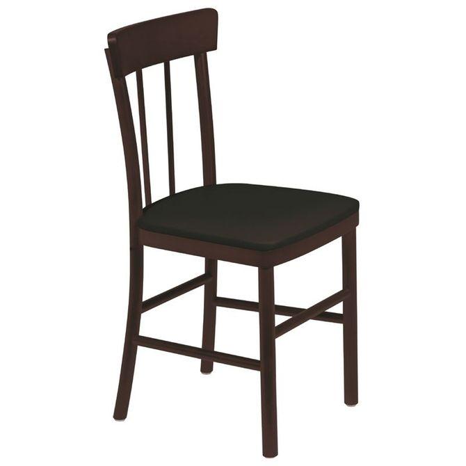 Cadeira-De-Madeira-Tramontina-Danubio-Em-Tauari-Tabaco-Sem-Bracos-Encosto-Vazado-Com-Estofado-Preto-Chenille-Amendoa-Piazza