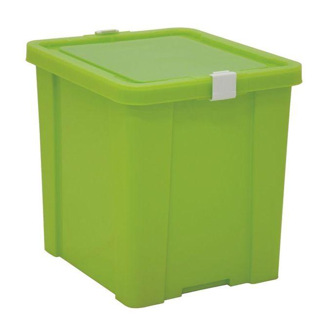 Caixa-Organizadora-Tramontina--Com-Tampa-Em-Plastico-Verde-42-L-Verde-Basic