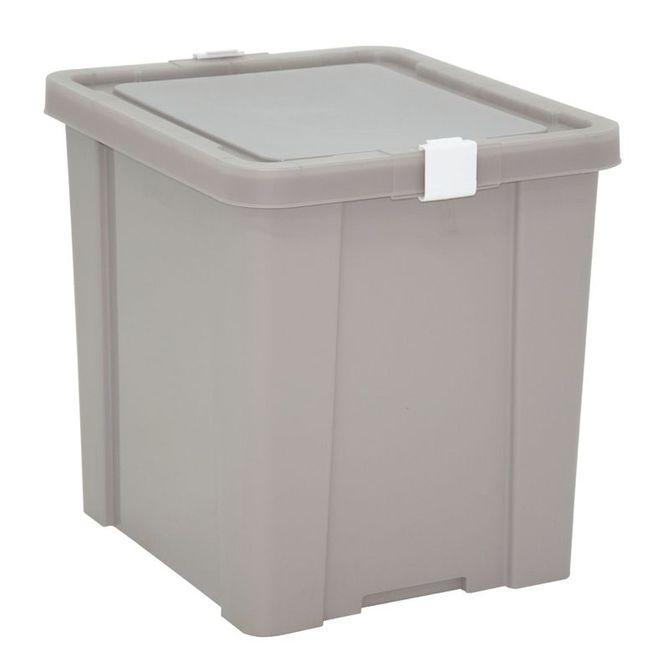 Caixa-Organizadora-Tramontina--Com-Tampa-Em-Plastico-Cinza-42-L-Konkret-Basic