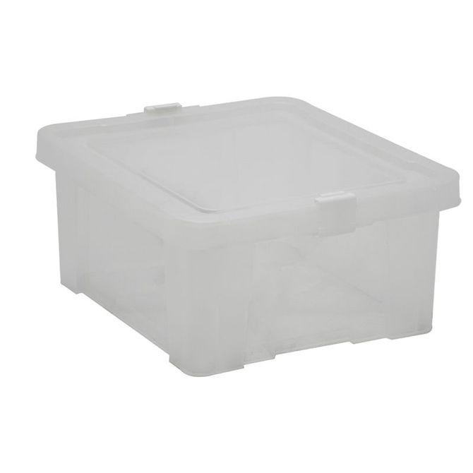 Caixa-Organizadora-Tramontina--Com-Tampa-Em-Plastico-Transparente-17-L-Branco-Translucido-Basic