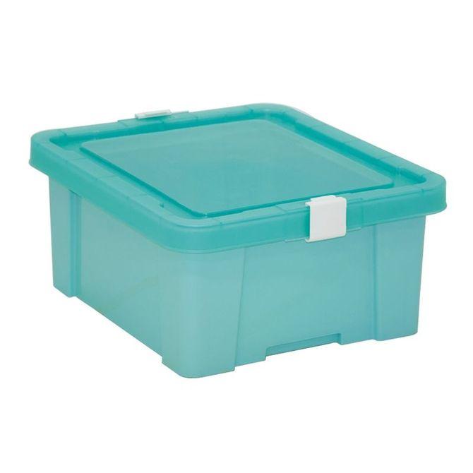Caixa-Organizadora-Tramontina--Com-Tampa-Em-Plastico-Verde-Claro-17-L-Anis-Basic