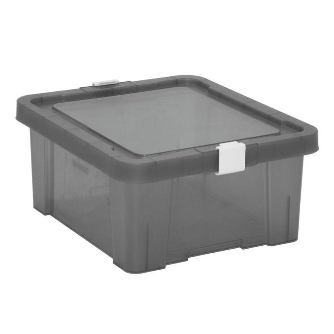 Caixa-Organizadora-Tramontina--Com-Tampa-Em-Plastico-Fume-17-L-Konkret-Basic
