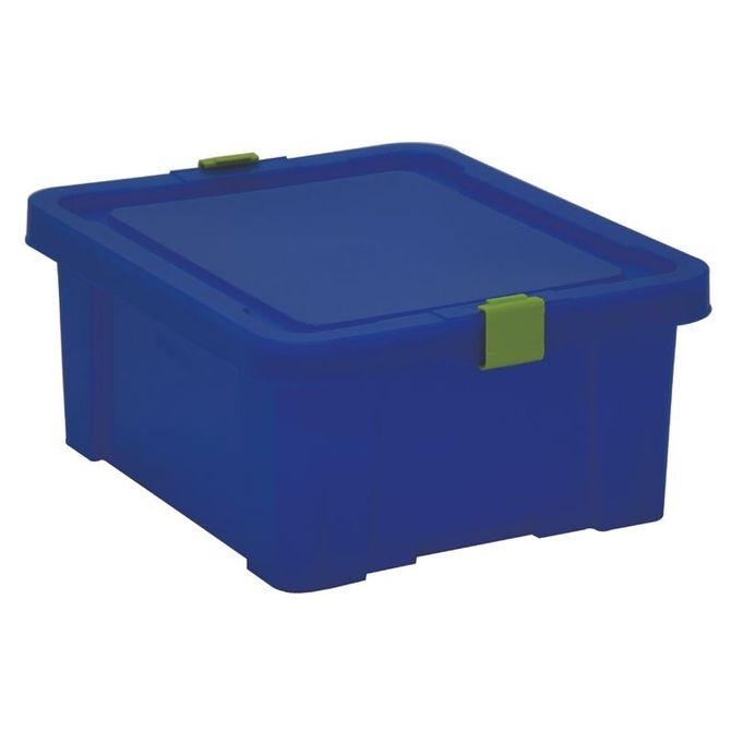 Caixa-Organizadora-Tramontina--Com-Tampa-Em-Plastico-Azul-17-L-Azul-Escuro-Basic