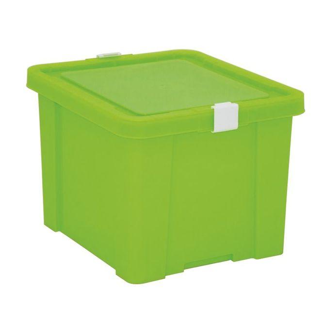 Caixa-Organizadora-Tramontina--Com-Tampa-Em-Plastico-Verde-30-L-Verde-Basic
