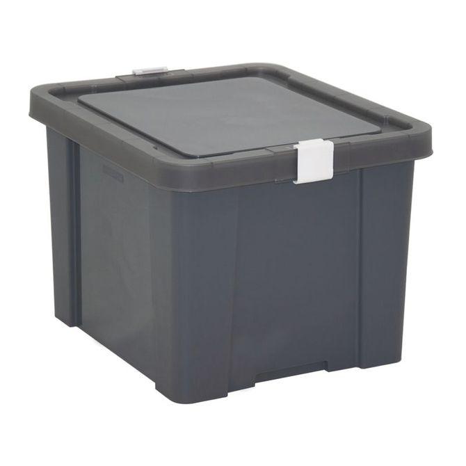 Caixa-Organizadora-Tramontina--Com-Tampa-Em-Plastico-Grafite-30-L-Preto-Basic