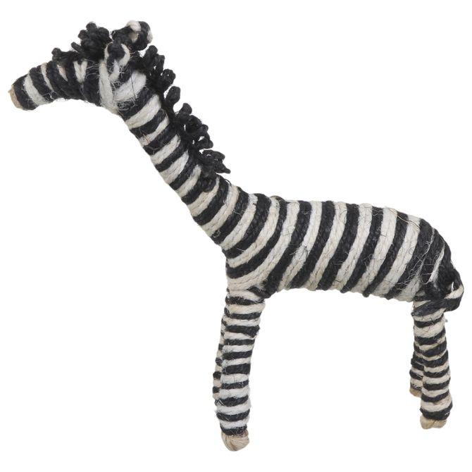 Zebra-Adorno-16-Cm-X-14-Cm-Preto-natural-Udama