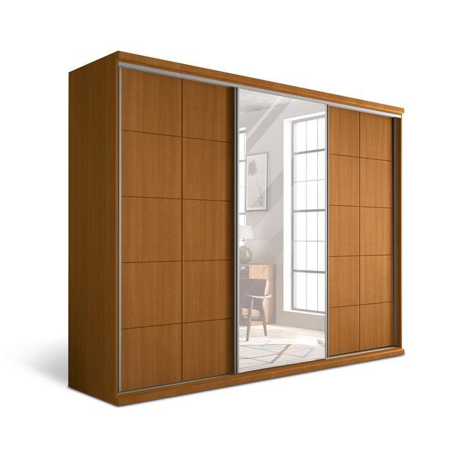 Guarda-roupa-Athenes-3-Portas-Com-Espelho-Nozes-Athenas