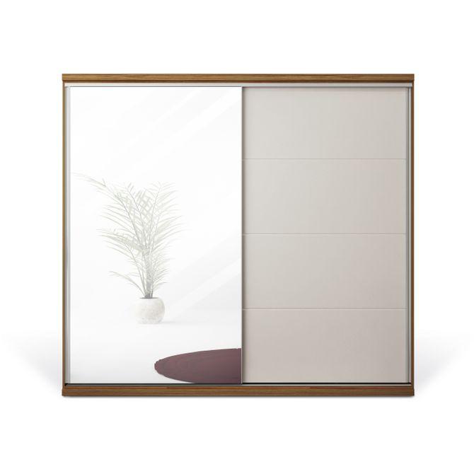Guarda-roupa--2-Portas-Com-Espelho-Nogueira-off-White-Sevilha