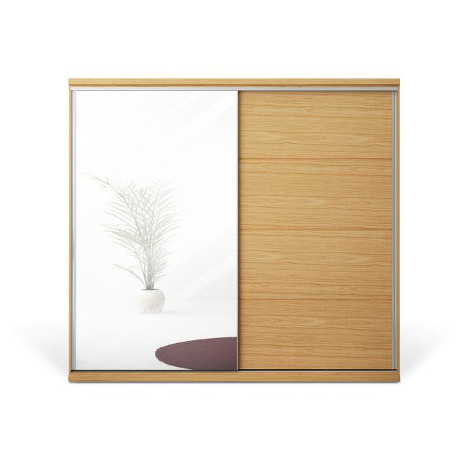 Guarda-roupa--2-Portas-Com-Espelho-Natural-Sevilha
