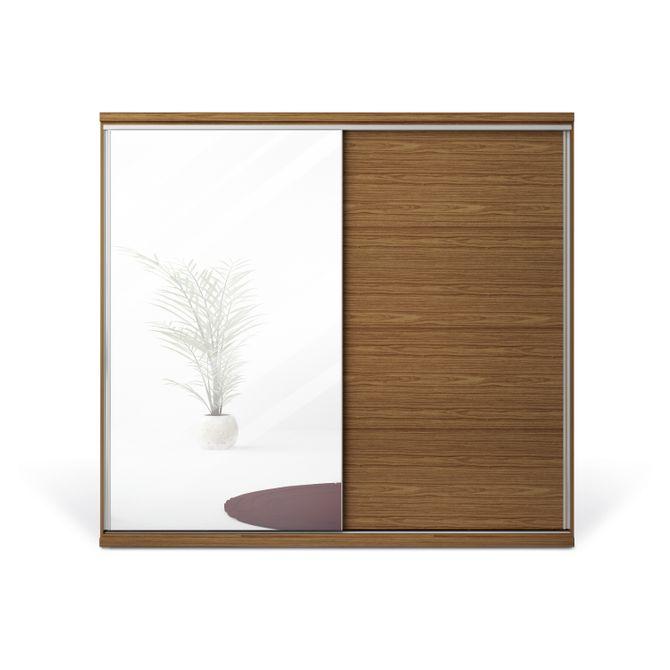 Guarda-roupa--2-Portas-Com-Espelho-Nogueira-Sevilha